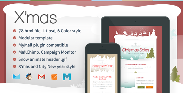 X'mas Responsive Email Template