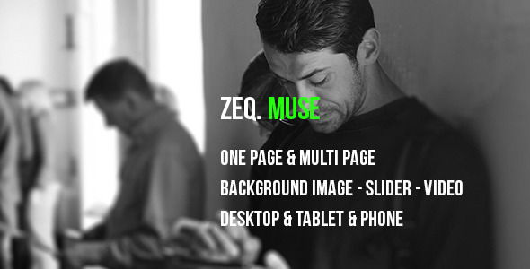 ZEQ Responsive Muse Template