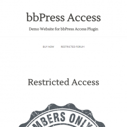 bbPress Access Limit Forum Access
