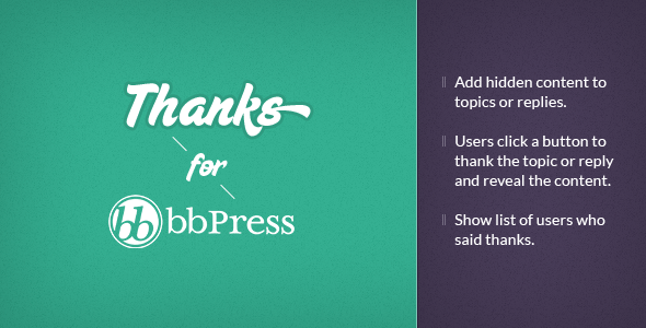 bbPress Thanks WordPress Plugin