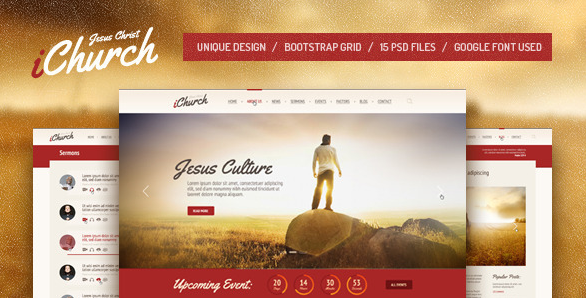 iChurch PSD Template