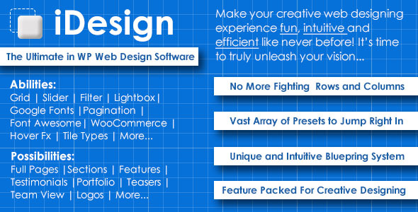 iDesign The ultimate in WP web design software