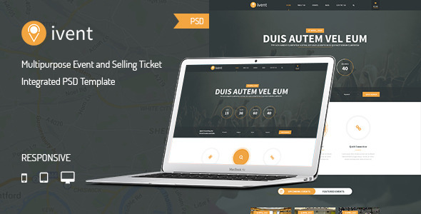 iVent Multipurpose Event PSD Template