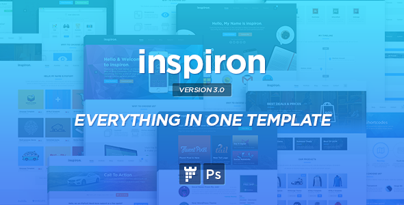 inspiron Corporate Multipurpose PSD Template
