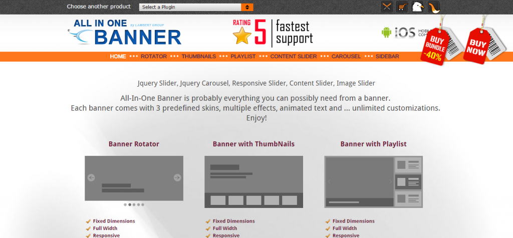jQuery Banner Rotator Content Slider Carousel