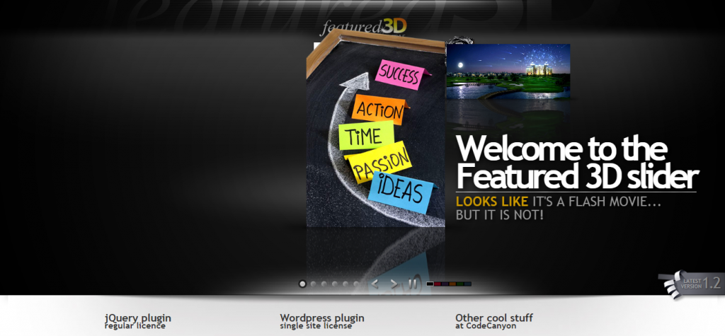 jQuery Featured 3D Slider