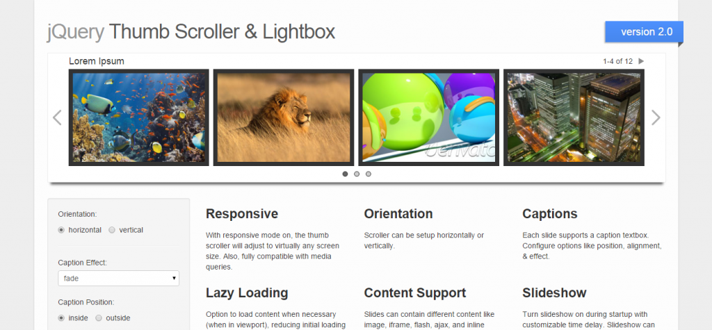 jQuery Image & Content Scroller w Lightbox