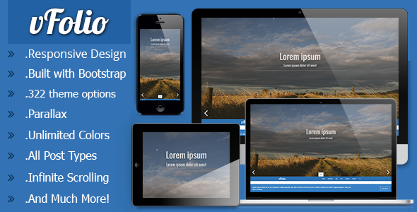 vFolio Responsive Portfolio Theme for Tumblr