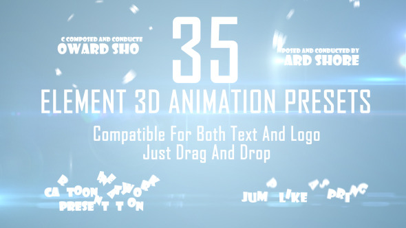 35 Element 3D Drag and Drop Presets vol.2