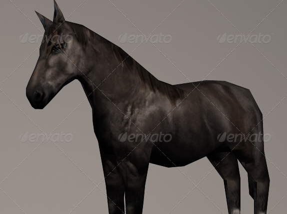 Animated Lowpoly Horse