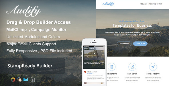Audify Responsive Email Builder Online