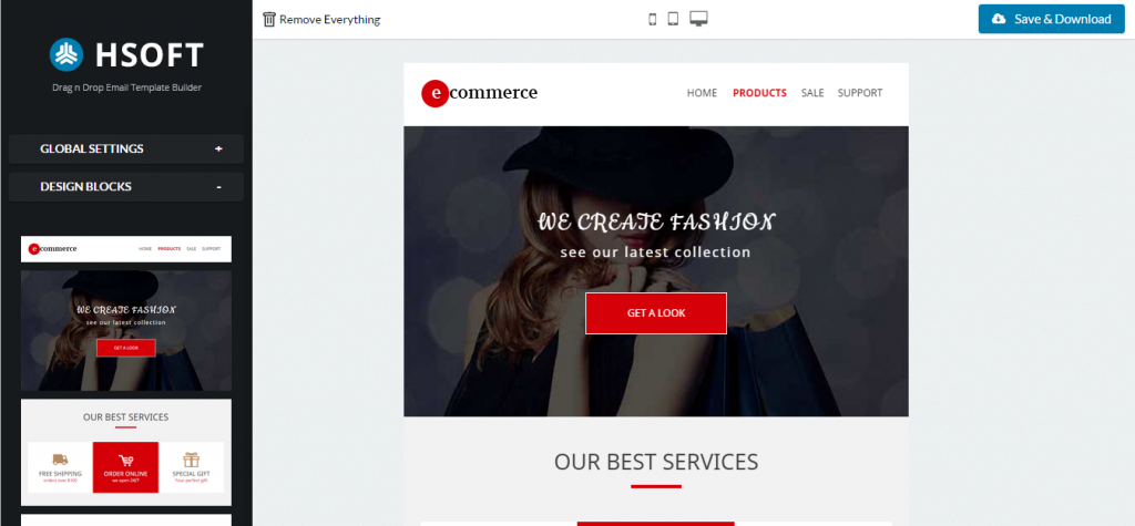 Best Ecommerce Responsive Email Builder Access