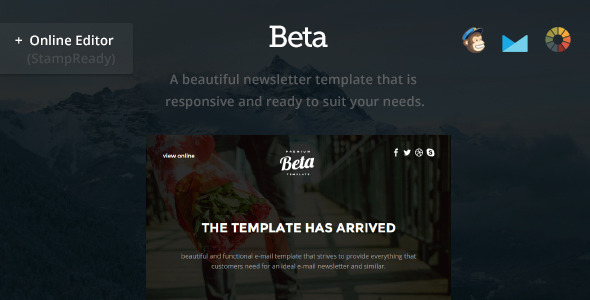 Beta Modern Email Template StampReady Builder