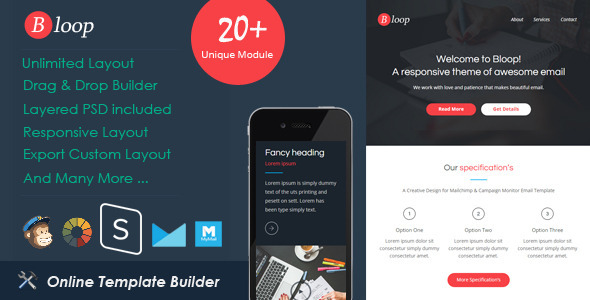 Bloop Responsive Email StampReady Builder