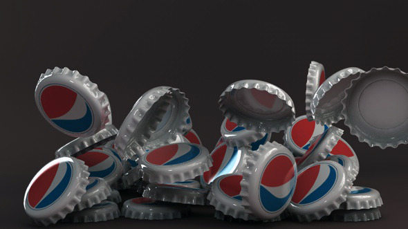 Bottle tin cap pepsi