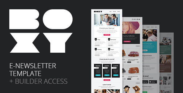 Boxy Multipurpose E-newsletter Builder Access