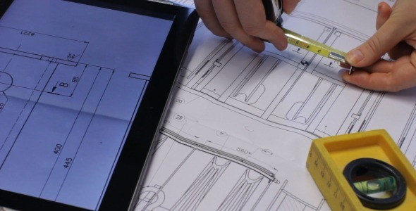 Checking Blueprints on Tablet