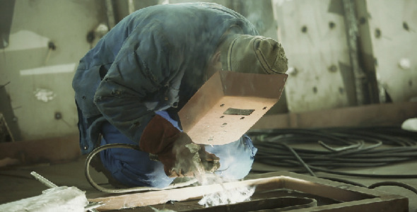 Construction Worker Welding I
