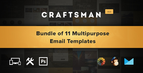 Craftsman Set of 11 Multipurpose Email Templates