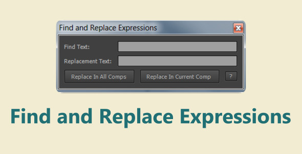 Find and Replace Expressions