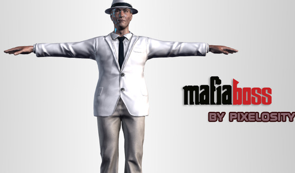 High Poly Mafia Boss