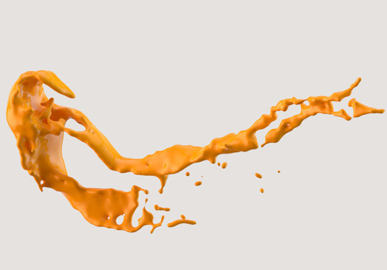 Highly detailed paint splash