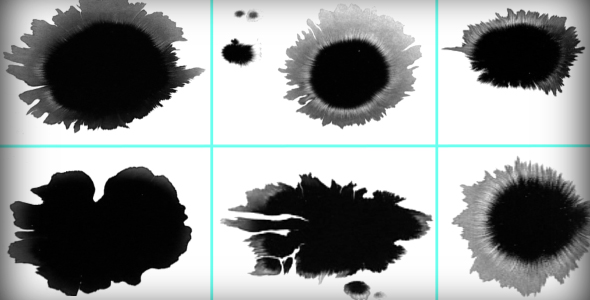 Ink Blot Splat Series of 6 High Quality