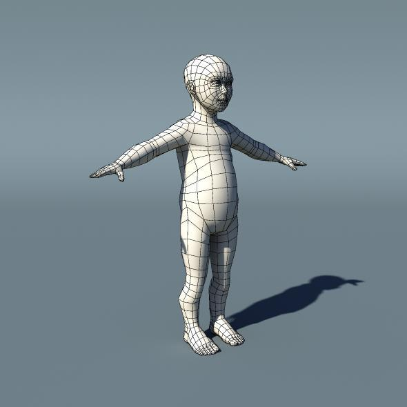 Kid Low Poly Base Mesh