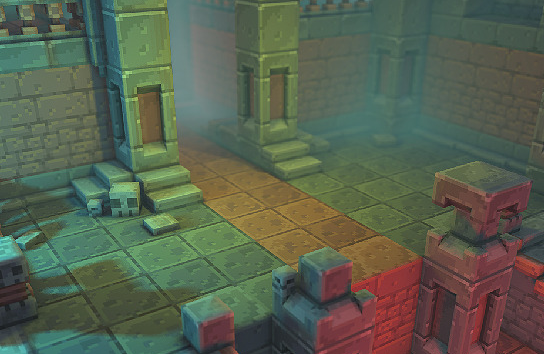 Low Poly 3D Pixel Dungeon Set 01