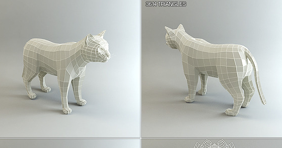 Low Poly Base Mesh Cat