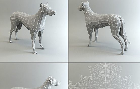 Low Poly Base Mesh Dog