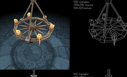 Low Poly Chandelier Set