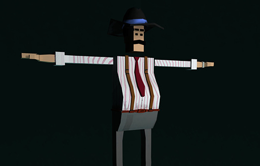 "Low Poly Character Rigged ""Boss"""