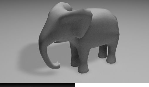 Low-Poly Elephant