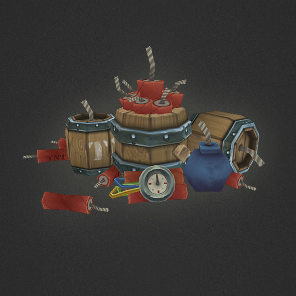Low Poly Explosives