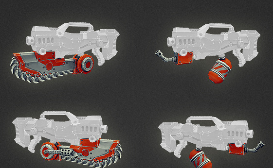 Low Poly Gun Add Ons