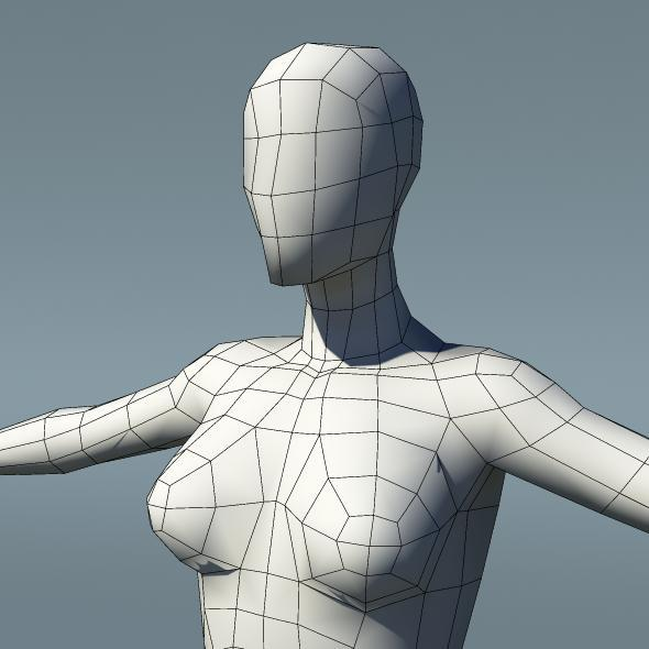 Low Poly Human Female Base Mesh Ver1.1