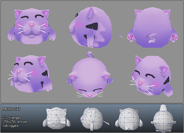 Low Poly Micro Cat Cloe