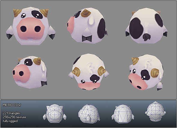 Low Poly Micro Cow Ulli