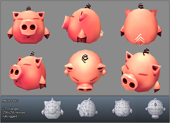 Low Poly Micro Pig Melvin