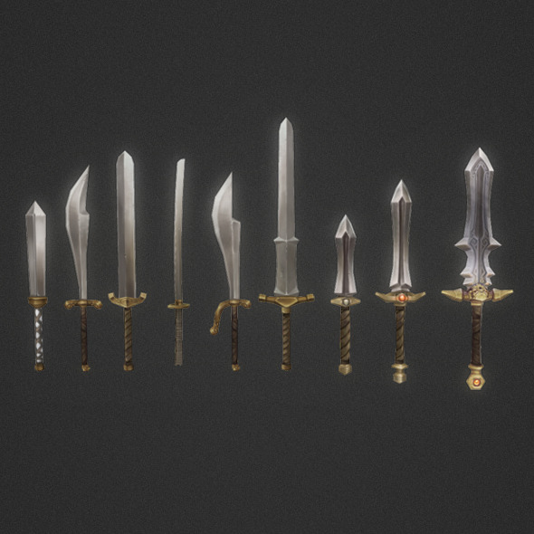 Low Poly Modular Melee Weapon Set