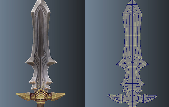 Low Poly Simple Short Sword 03