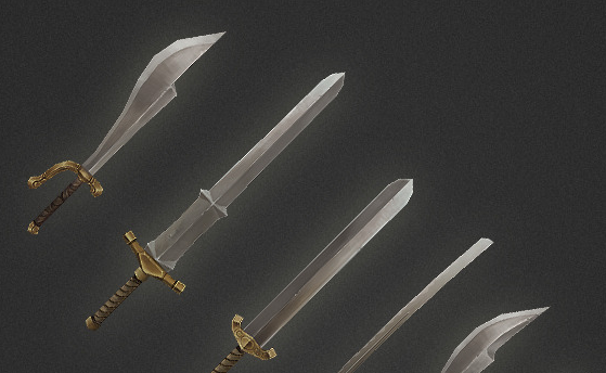 Low Poly Weapon Set 03
