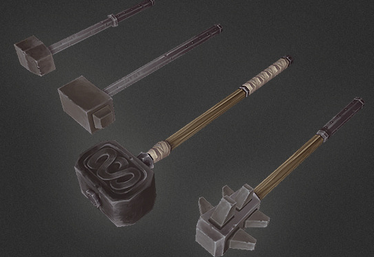 Low Poly Weapon Set 04