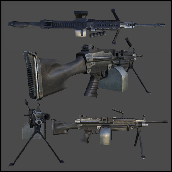 M249 Light Machine Gun, (SAW)