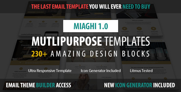 Miaghi Multipurpose Email Builder Access