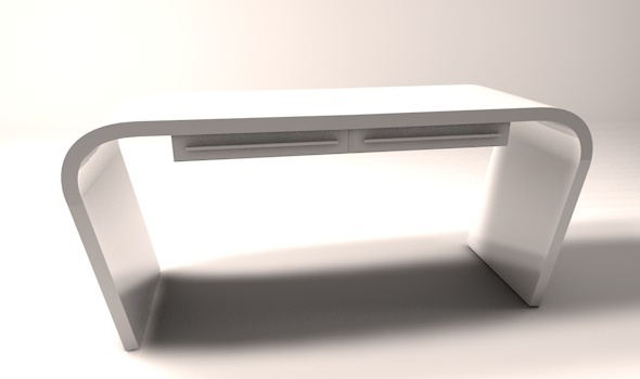 Minimalist office computer desk