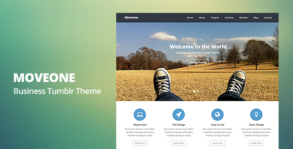 Moveone Business Responsive Tumblr Theme
