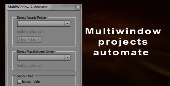 Multi Window Projects Automater