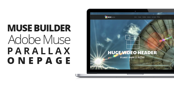 Muse Builder Parallax OnePage Muse Template